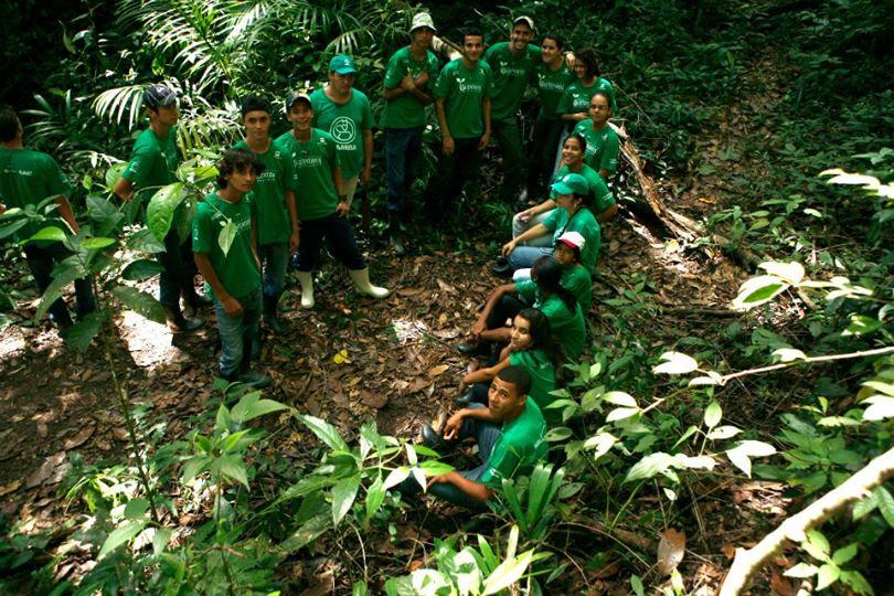 Turma do primeiro Curso de Voluntários do Gambá