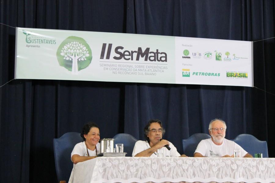 Beloyanis Monteiro também contou a história da Rede Mata Atlântica, que desde 1992 reúne organizações não governamentais que defendem a conservação do bioma