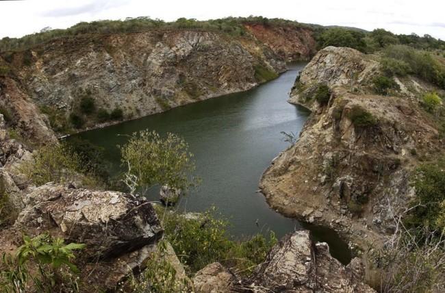 Mina de São Felix, em Bom Jesus da Serra, desativada desde 1968, precisa ser recuperada ambientalmente. Foto: Divulgação